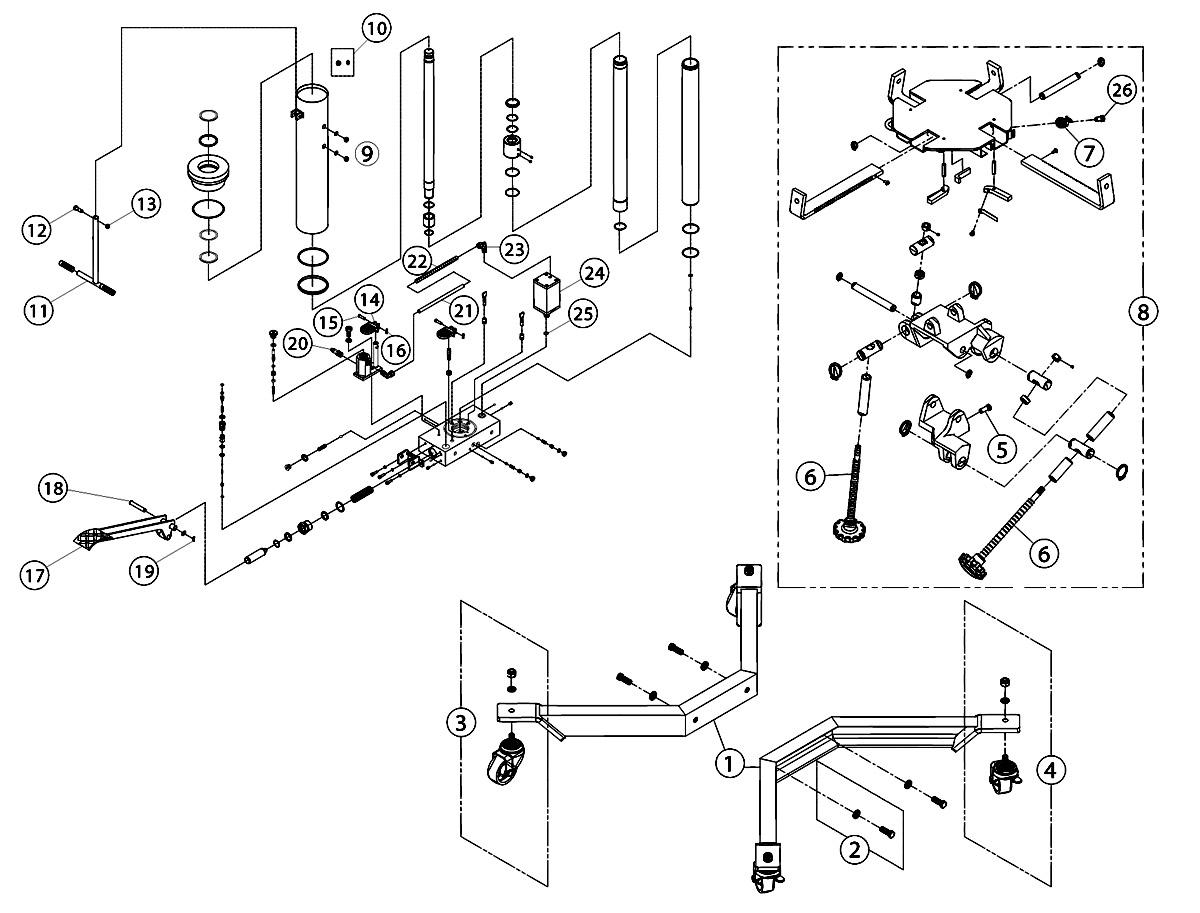 Larin Hydraulic Floor Jack Parts