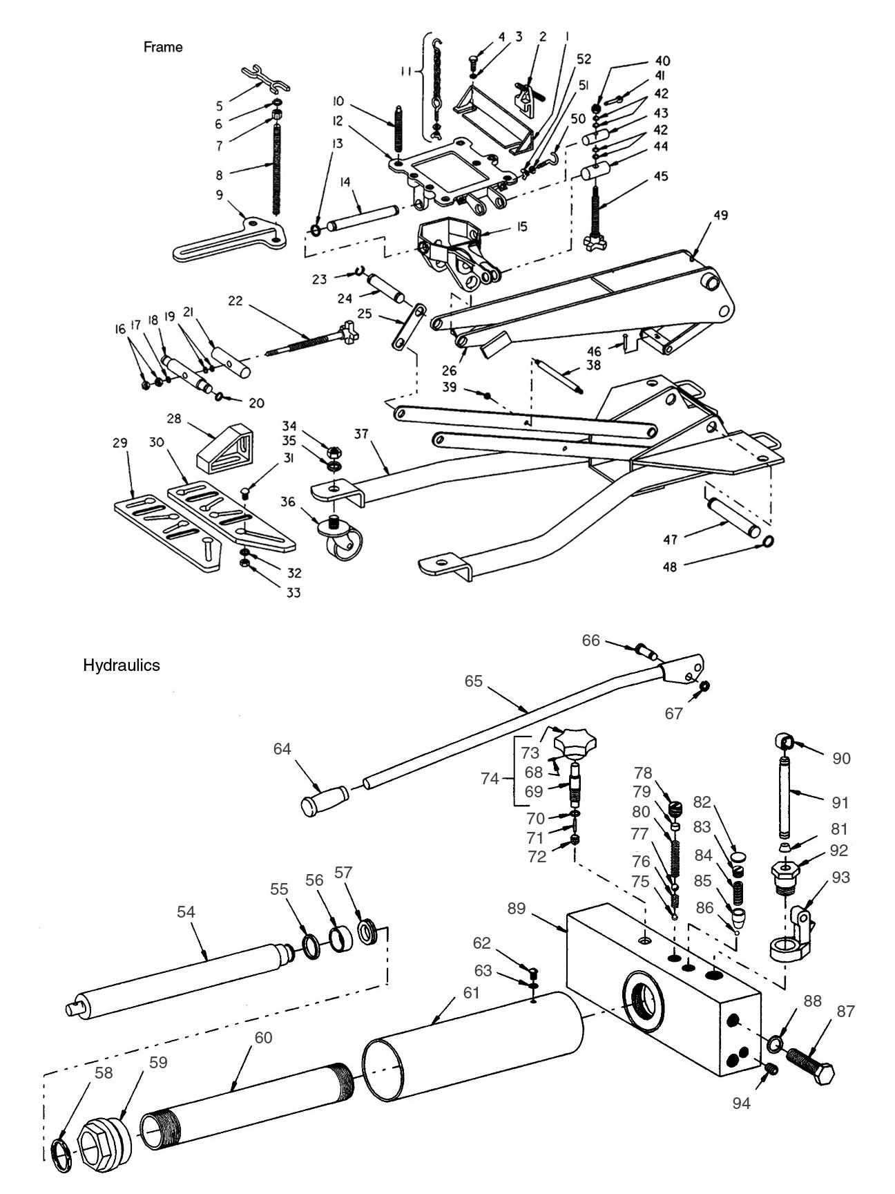 Hydraulic Jack Schematicgram