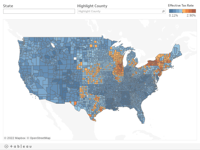 Proeprty Tax By County