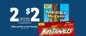 Express - Mike & Ike and Hot Tamales 2/$2
