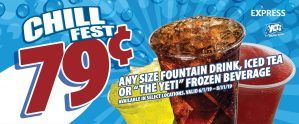 Express - Chill Fest 79¢ Drinks