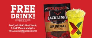 Express - FREE fountain drink with purchase of Jack Link's