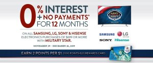 MILITARY STAR Select Tvs & Electronics Offer