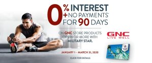 GNC Store Special Financing Offer