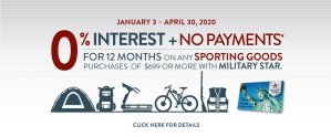 MILITARY STAR Sporting Goods 0% Financing Offer