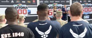 POTUS congratulates Air Force's newest members at Daytona 500