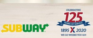 Subway 125th Exchange Anniversary Sweepstakes