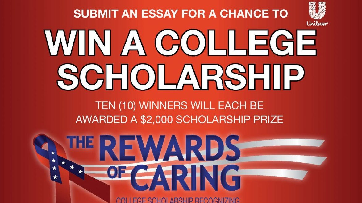 Submit an essay for a chance to win a college scholarship with the Rewards of Caring sweepstakes!