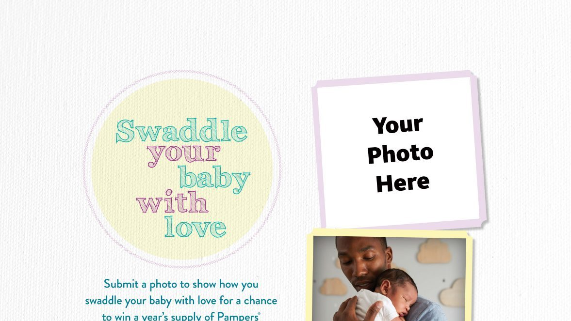 The Army & Air Force Exchange Service is giving one military family a chance to swaddle their little one with a year's supply of Pampers diapers in the Swaddle Your Baby photo contest.