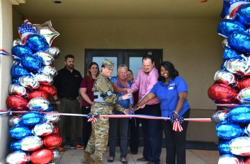 ribbon cutting at Tinker AFB micro market