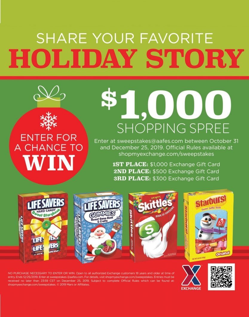 Three holiday sweepstakes for military shoppers