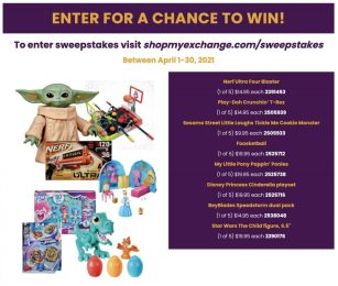 Month of the Military child sweepstakes