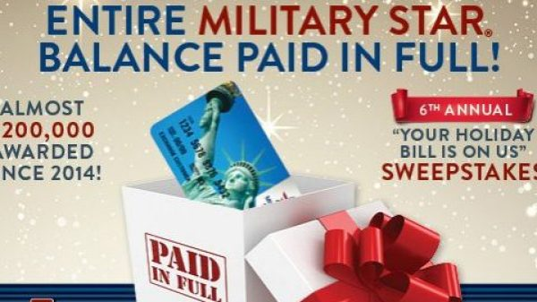 94606 MilStar Holiday Bill On Us Sweepstakes FACEBOOK 600x600