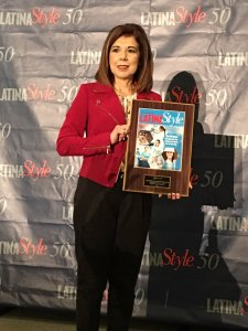 Trini Saucedo, senior vice president of the Services, Food & Fuel Directorate, accepted the award on behalf of the Exchange.