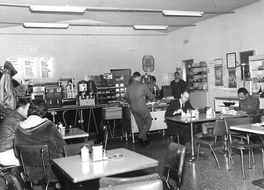 Aviano AB flight line snack bar, circa 1968
