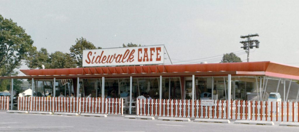 Sidewalk Cafe, Fort Dix, 1973