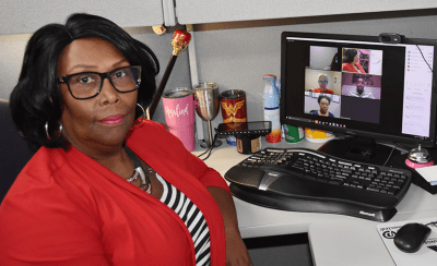 Rosalind Earl, customer service and quality assurance training specialist, guides associates from around the world through the Exchange's virtual training program.