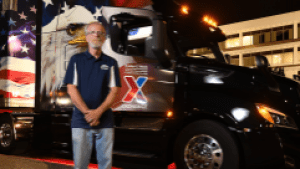 Exchange trucker Bradley Wacks is a member of the National Private Truck Council's Driver Hall of Fame.