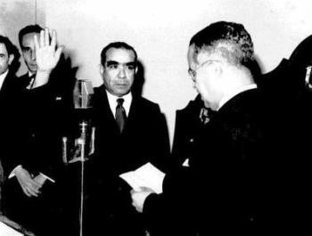 juramentación del Dr. Pezet como presidente de la Asamblea Nacional