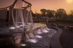 Yvonne Meyer ​Fountain in Union Plaza at dawn