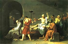 Moartea lui Socrate, pictată de Jacques-Louis David - Metropolitan Museum of Art, New York