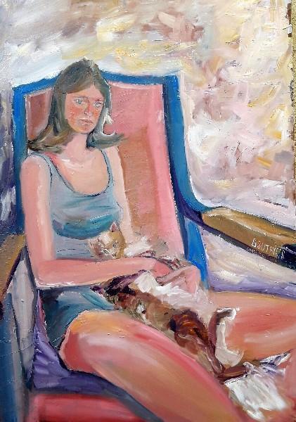 Jeune fille avec chat