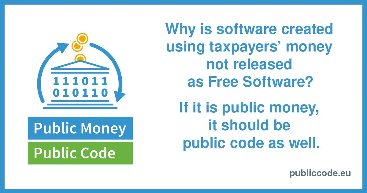All Public Signatures Public Money Public Code