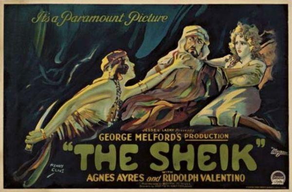 The Sheik, 1921 film starring Rudolph Valentino