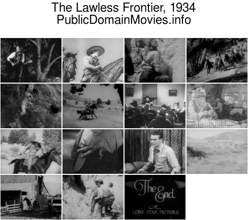 The Lawless Frontier, 1934 starring John Wayne