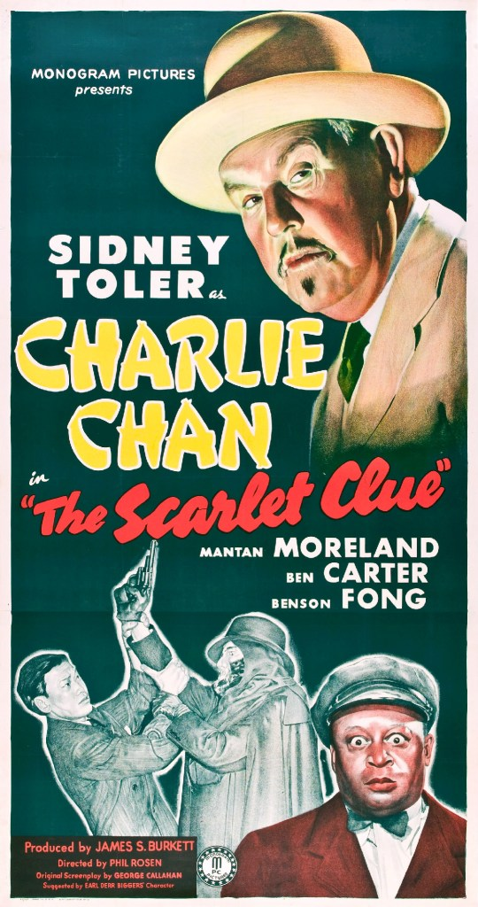 Charlie Chan's The Scarlet Clue, 1945