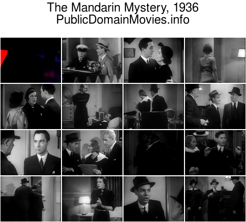 The Mandarin Mystery, 1936