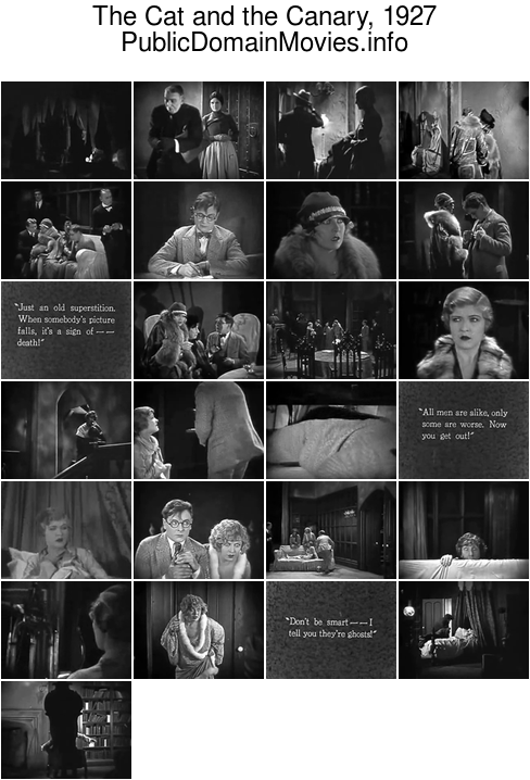 The Cat and the Canary, 1927 film