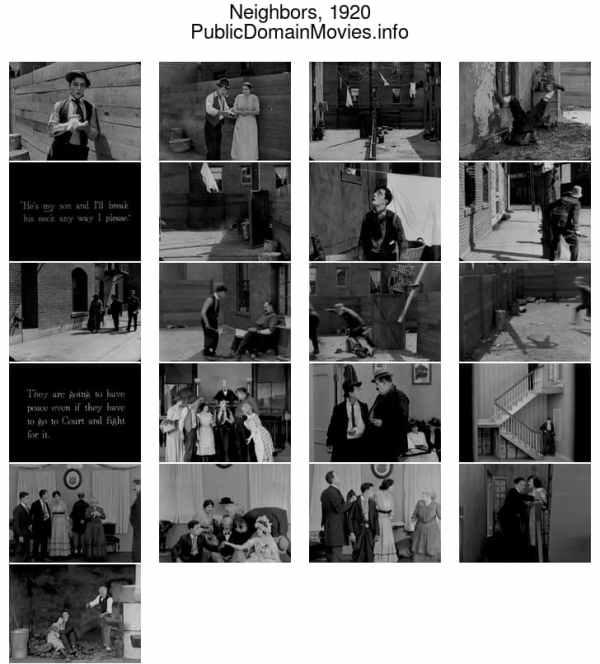 Neighbors, 1920 starring Buster Keaton