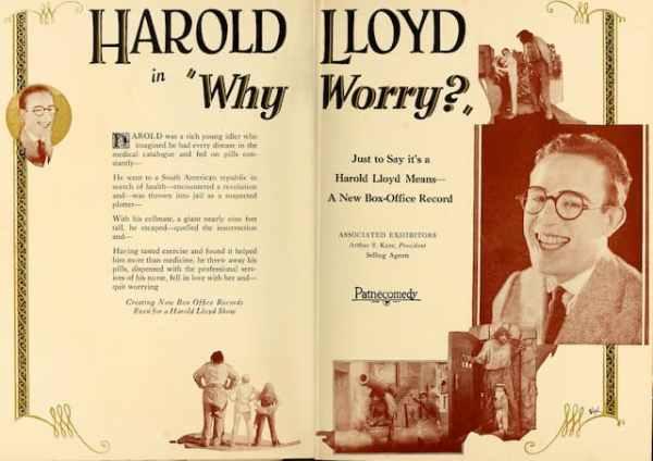 Why Worry?, 1923 starring Harold Lloyd