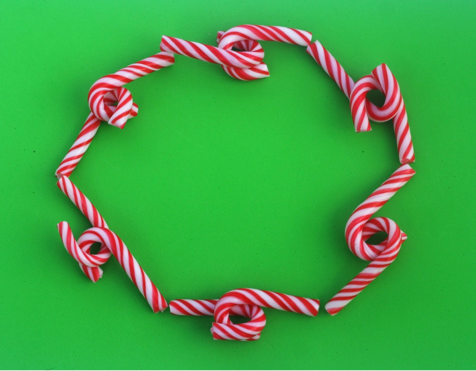 Candy Cane Frame Free Stock Photo