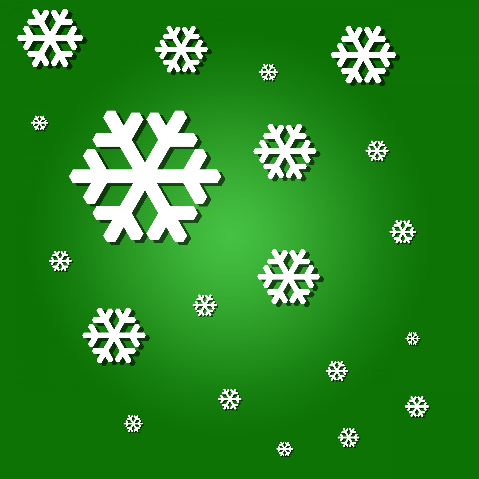 Snowflakes On Green Background Free Stock Photo Public