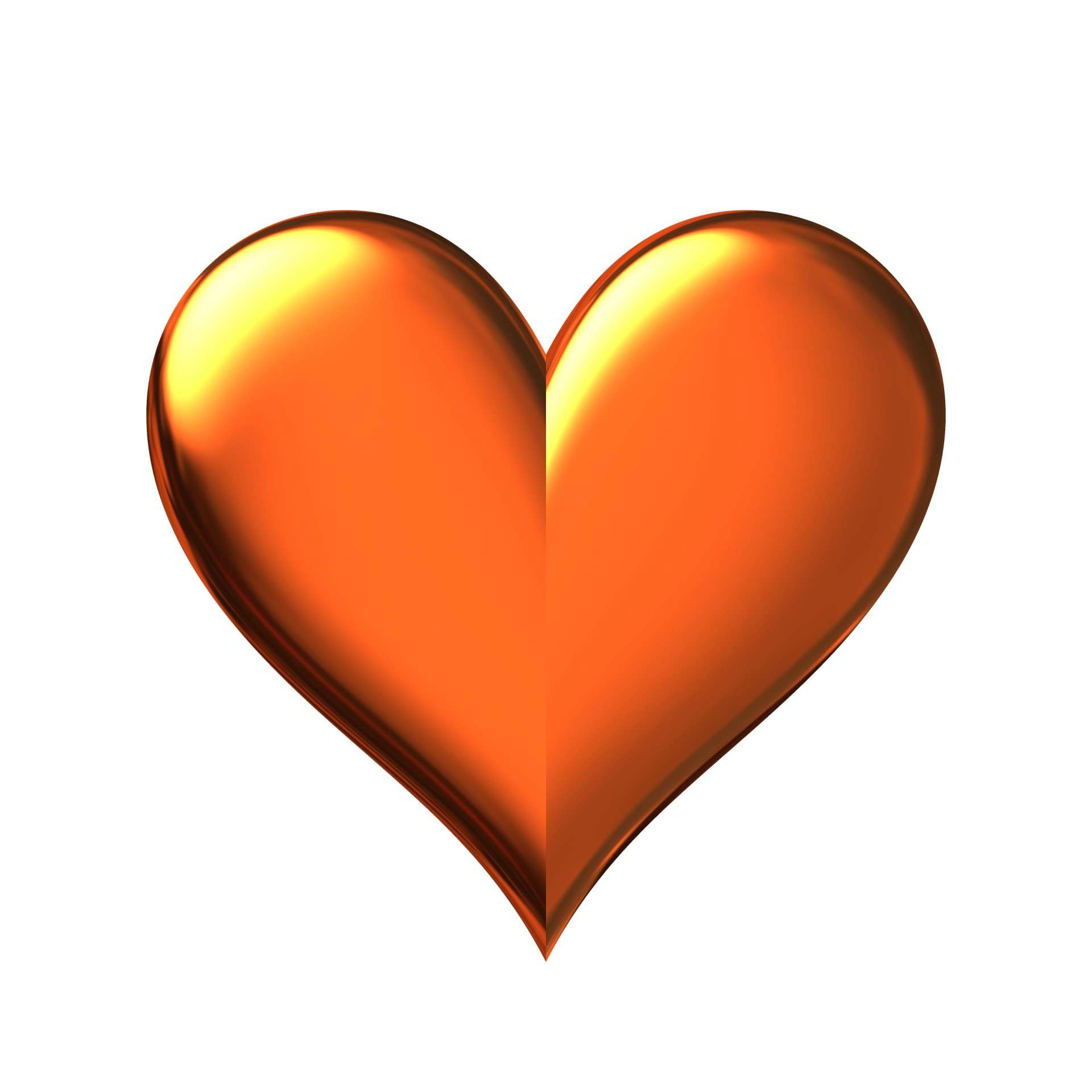 Golden Heart Free Stock Photo Public Domain Pictures