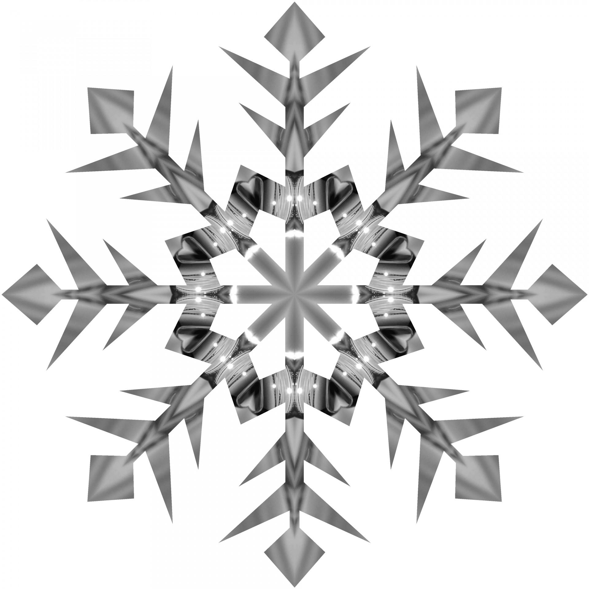 Grey Snowflake 2 Free Stock Photo