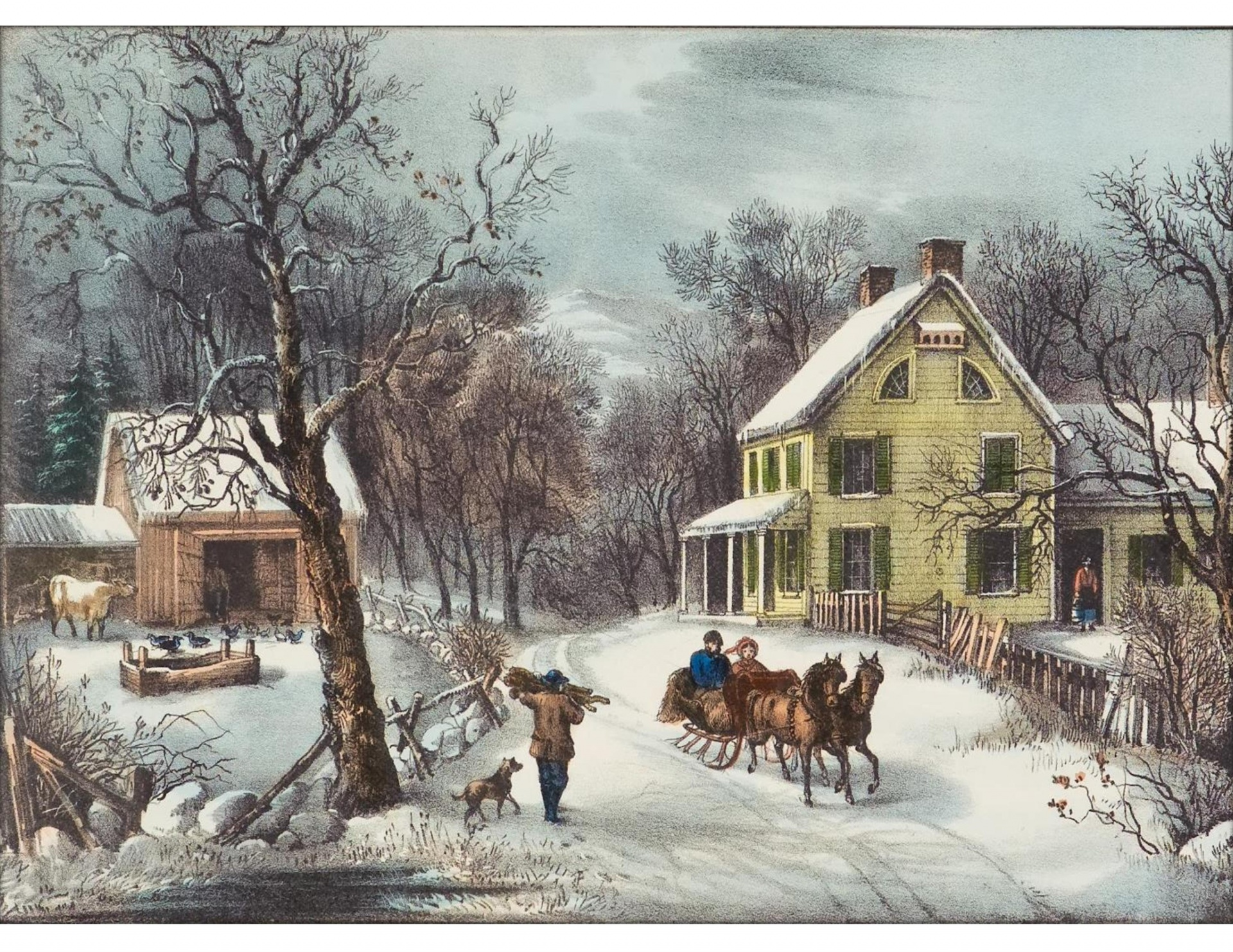 American Homestead Winter Free Stock Photo Public Domain