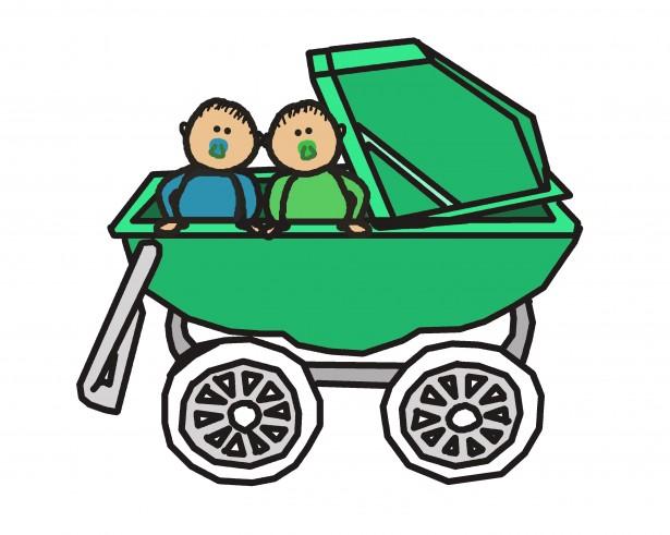 Twin Baby Boys Stroller