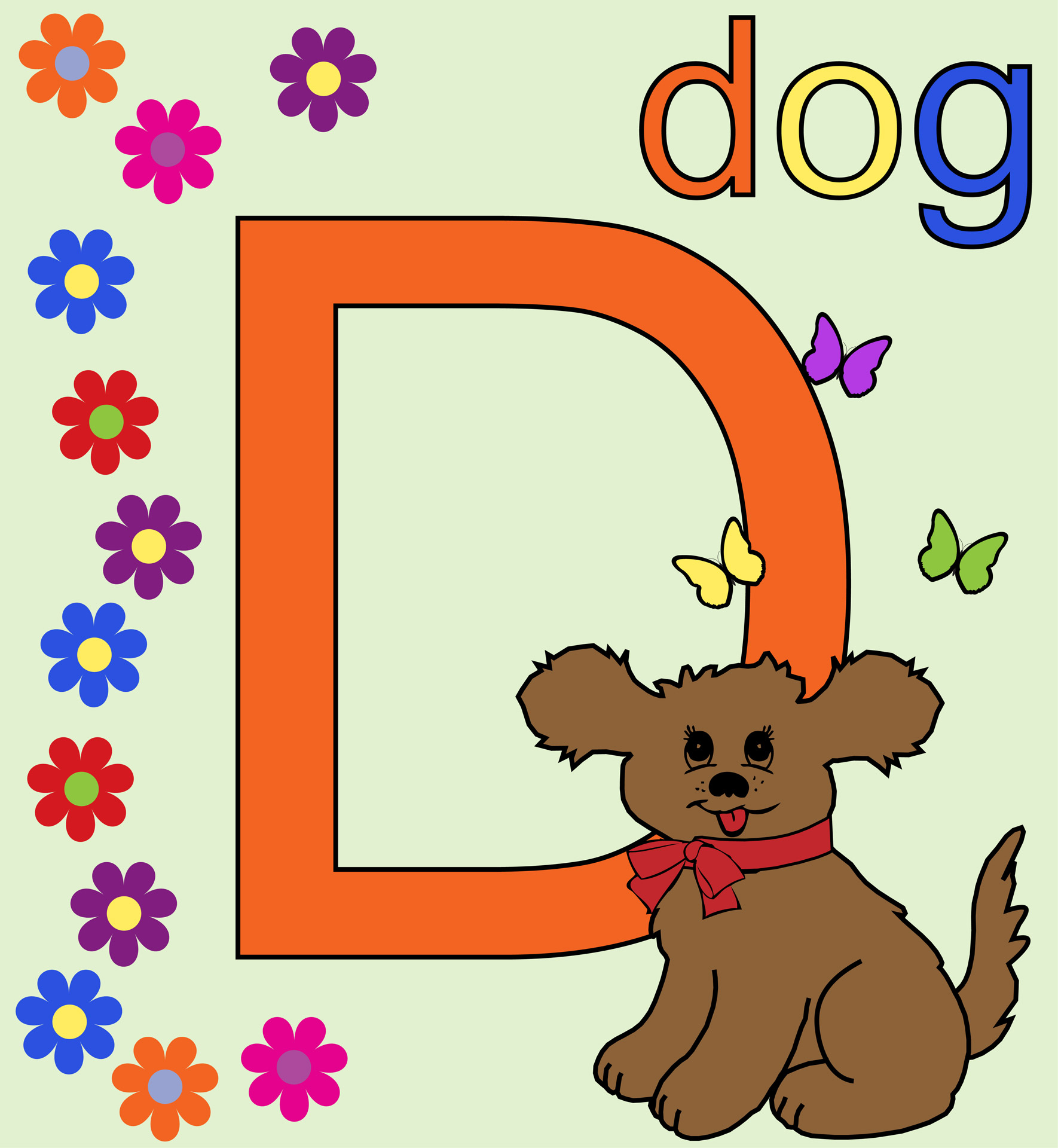 Dog Cute Letter D Free Stock Photo
