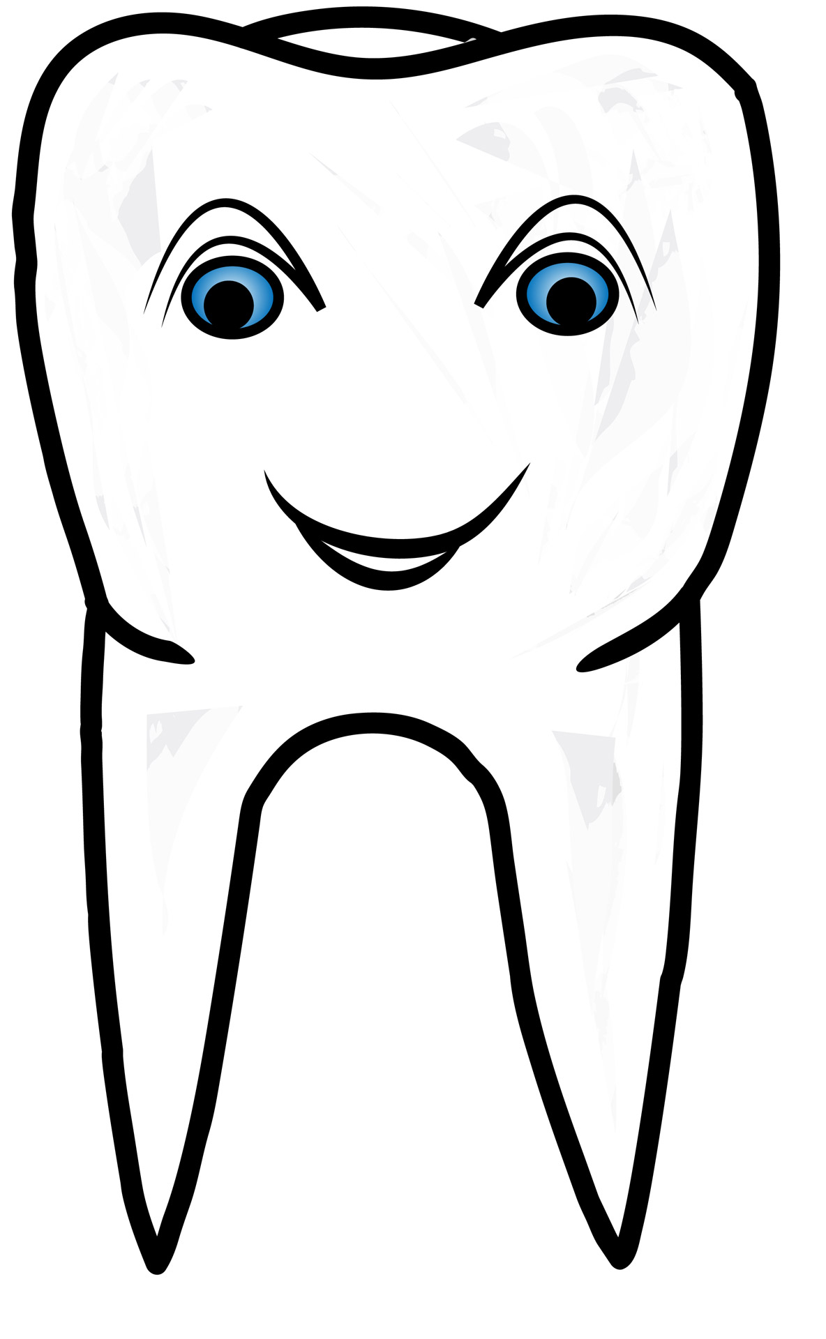 Stylized Smiling Healthy Tooth Free Stock Photo