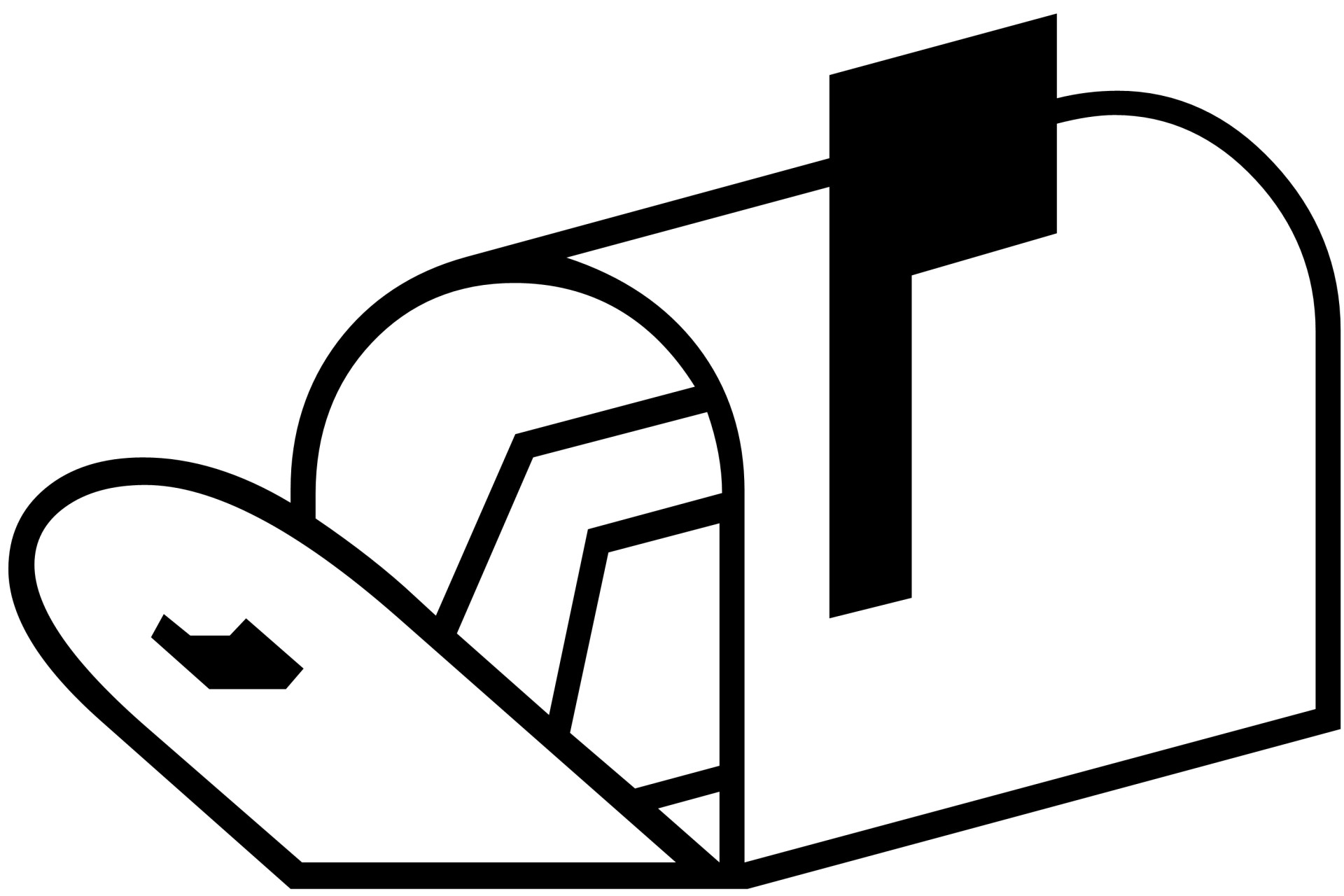 Open Mailbox Silhouette Free Stock Photo