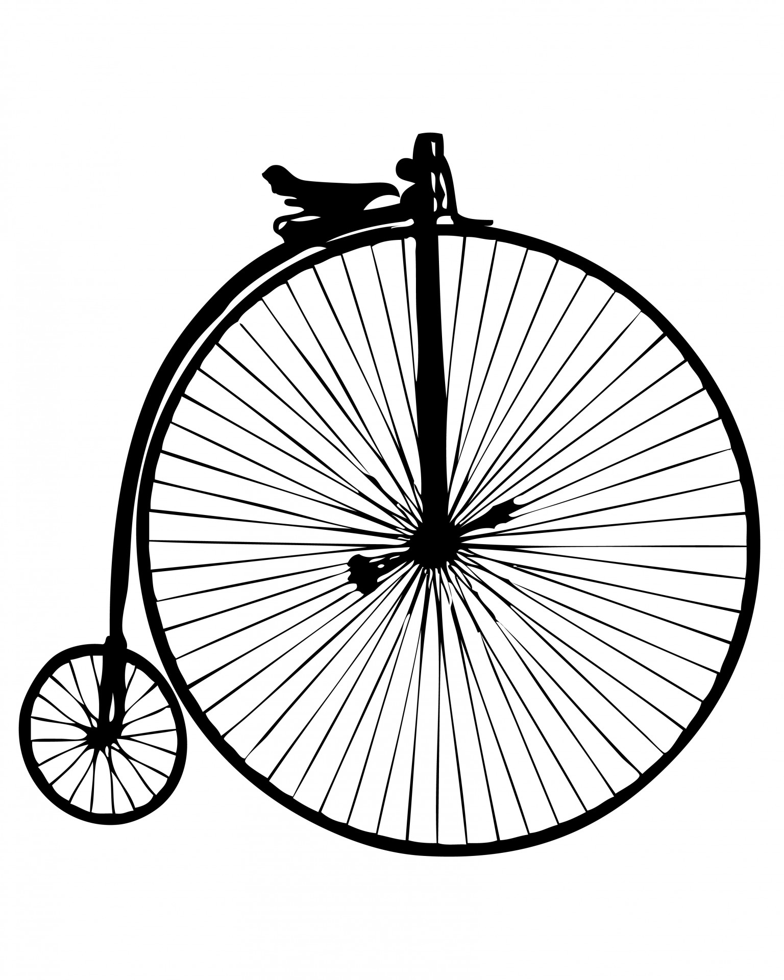 Penny Farthing Vintage Bicycle Free Stock Photo