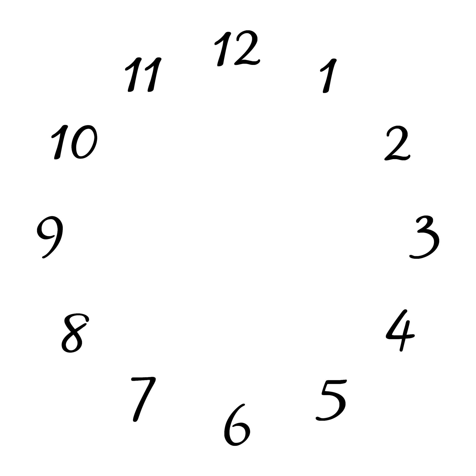 Clock Face Free Stock Photo