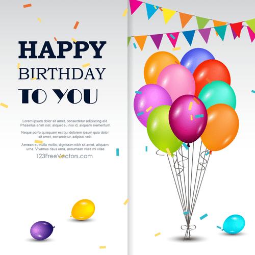 Kartu Ucapan Selamat Ulang Tahun Domain Publik Vektor