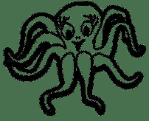 Cute Octopus Public Domain Vectors