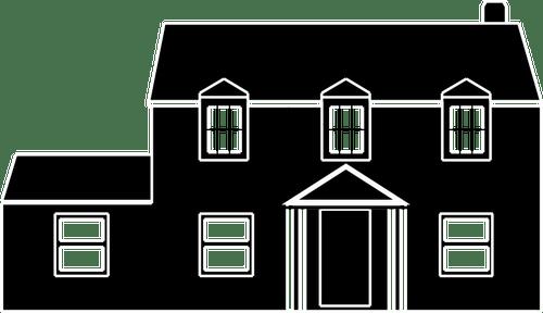 Gambar Vektor Silhouette Rumah Terpisah Domain Publik Vektor