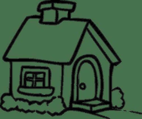 Hitam Rumah Ilustrasi Domain Publik Vektor