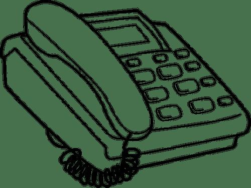 Telepon Yang Sederhana Domain Publik Vektor
